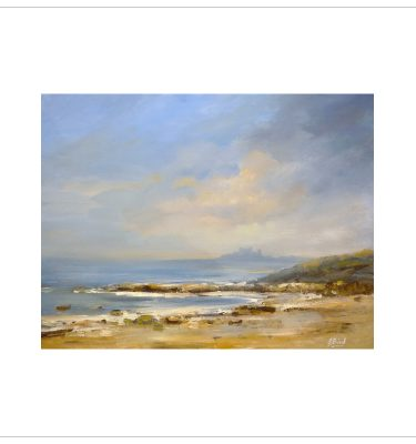 Distant Bamburgh by John Bird