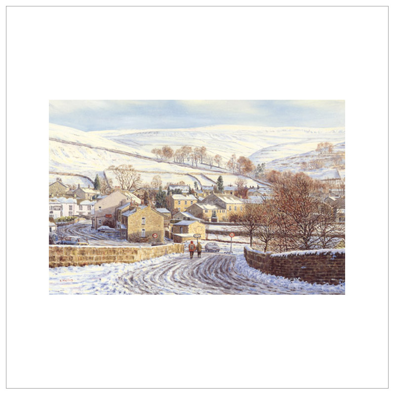 A Dales Winter, Kettlewell By Keith Melling
