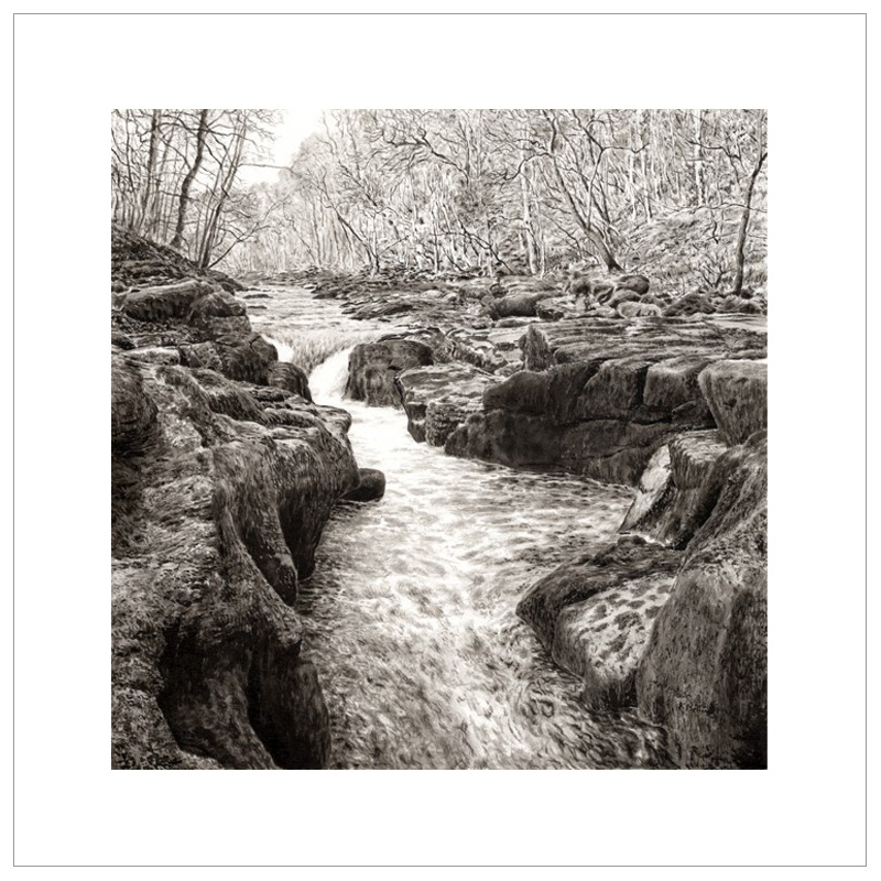 The Strid At Bolton Abbey By Keith Melling