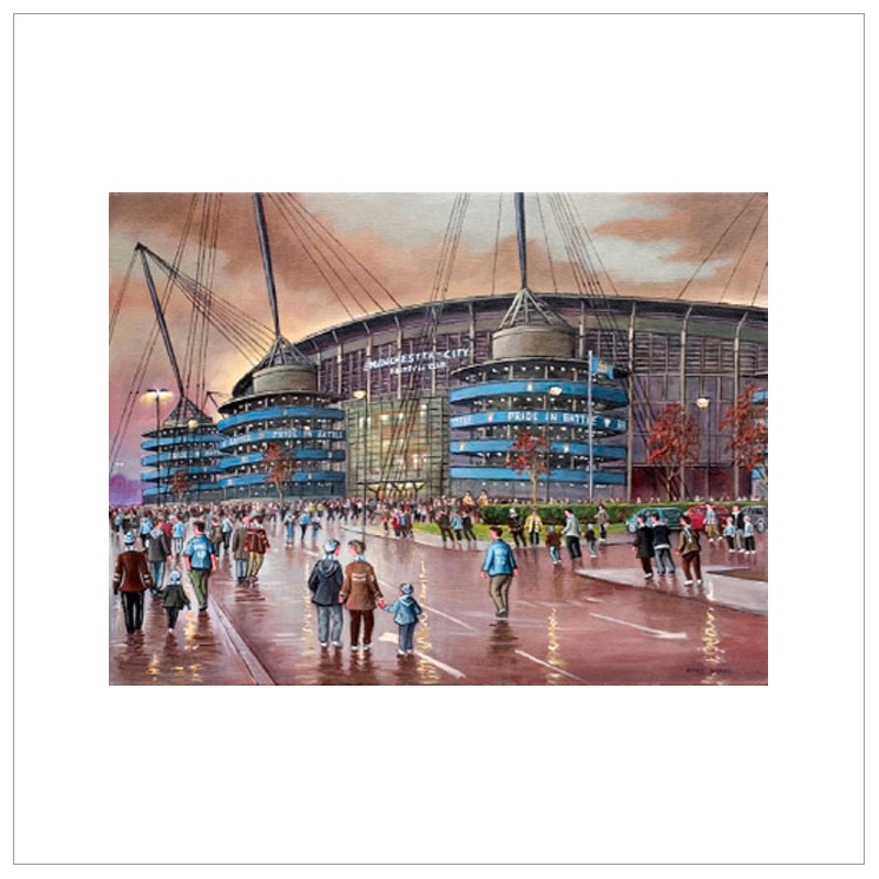 Derby Day - Manchester City Ground The Etihad By Steven Scholes