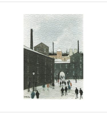 The Mill Yard - Coloured By G W Birks
