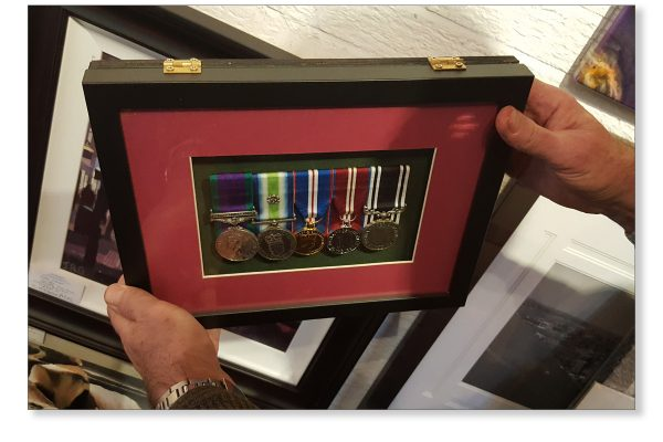 Framed Medals 1 showing hinged box