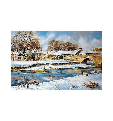 Burnsall in Winter by John Wood