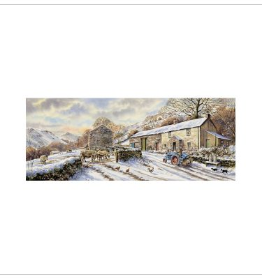 Chestnut Cottage Winter by John Woods