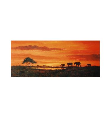 African Evening 1 by John Wood