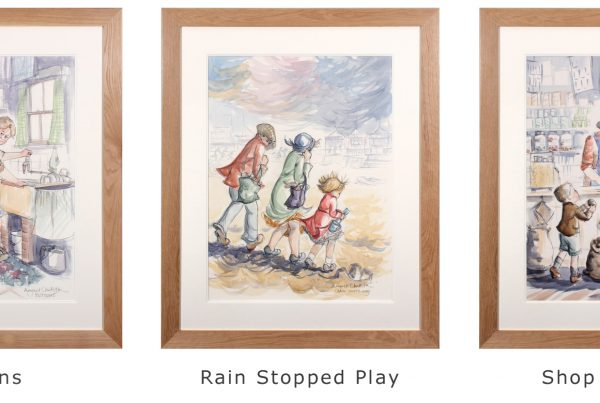 shop assitant, Buttons and Rain Stopped Play by Margaret Clarkson