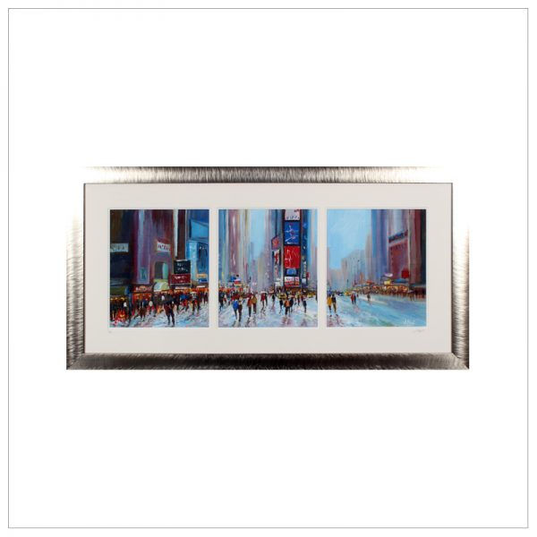 Times Square New York Triptych by John Bird