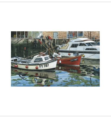 Cornish Fishing Boats by Tony Byrne