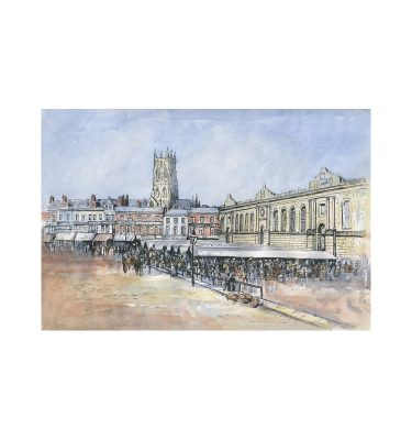 Doncaster Market Place 1905 by John bird