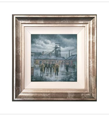 The Meeting - The Colliery Yard by John Wood