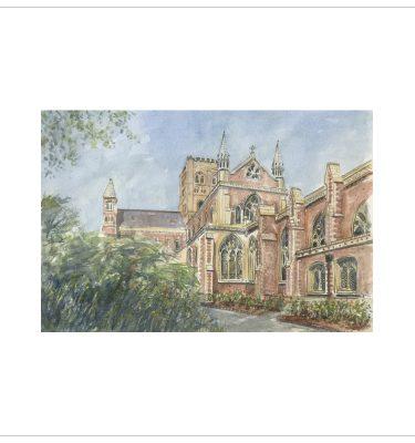 St Albans Abbey by John Bird
