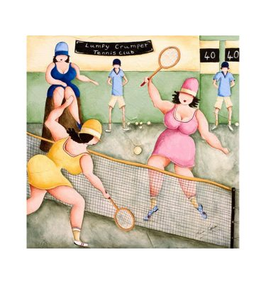 Tennis Girls by Elaine Cooper
