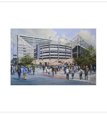 Match Day at St James Park by John Wood