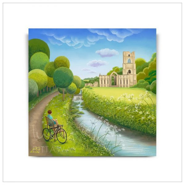 A Moment of Reflection - Fountains Abbey by Lucy Pittaway