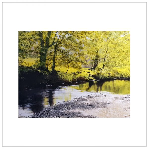 Sunlight on River Brathay by Margaret Jarvis