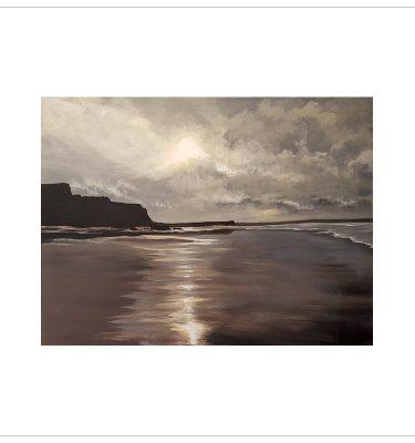 Moonlit Beach Bude Cornwall by Margaret Jarvis