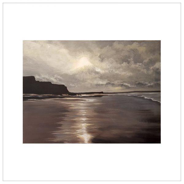Moonlit Beach Bude Cornwall by Margaret Jarvis