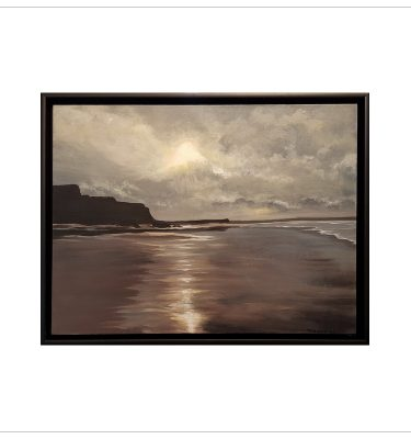 Moonlit Beach Bude by Margaret Jarvis