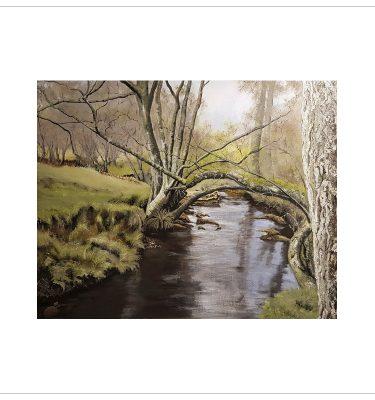 Tangled Alders on Eller Beck by Margaret Jarvis