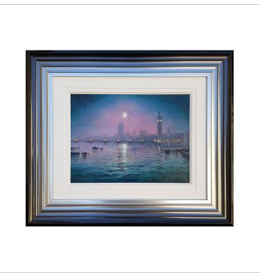 Moonlit Haze Westminster by Andrew Grant Kurtis