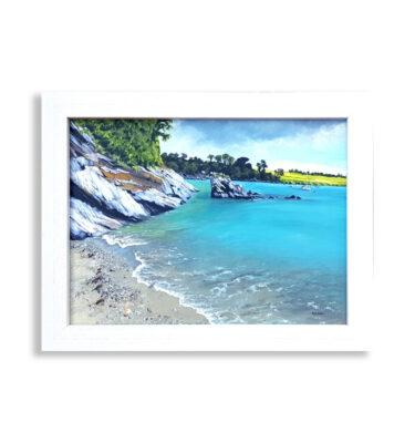 Trebah Beach Cornwall by Margaret Jarvis